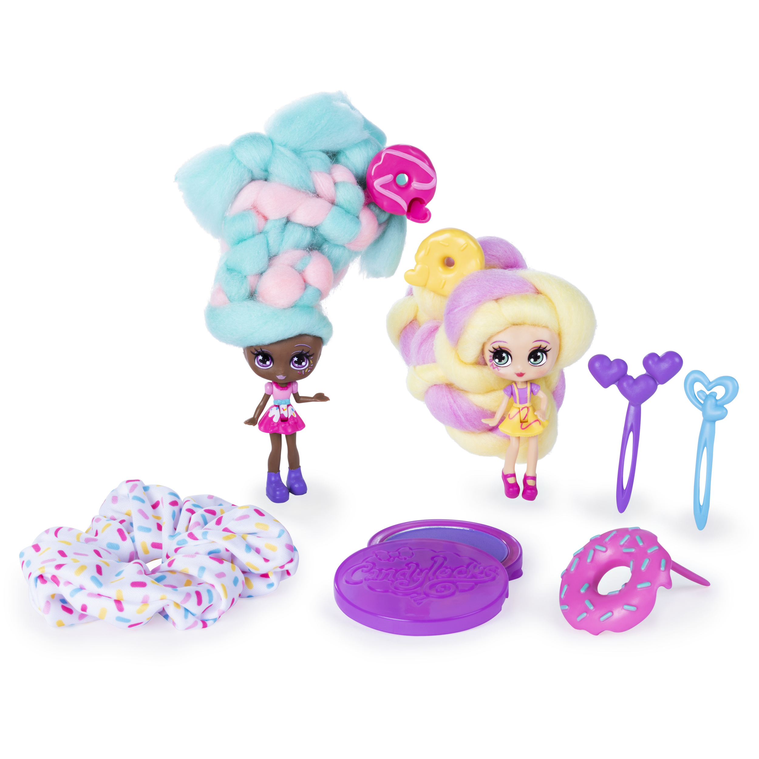 """Candylocks Scented Collectible... BFF 2-Pack 3/"""" Cora Crème and Charli Chip"""