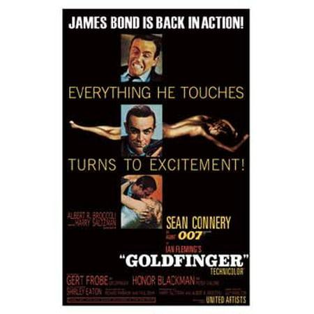 Goldfinger Movie Poster James Bond New -