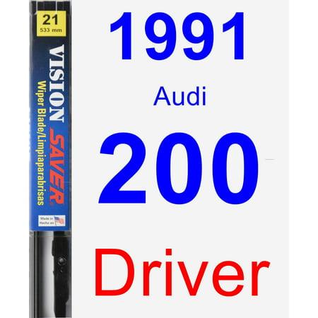 1991 Audi 200 Driver Wiper Blade - Vision Saver 1991 Audi 200 Turbo