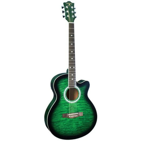 INDIANA Madison MAD-QTGR Acoustic-Electric Guitar - Green (Crimson Deluxe Guitar)