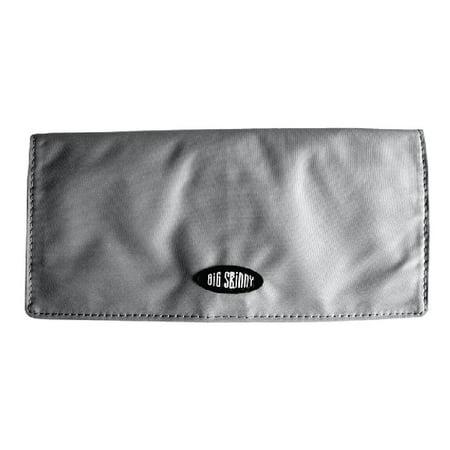 Big Skinny Executive - Graphite - Checkbook Bi-Fold Wallet with zippered pocket