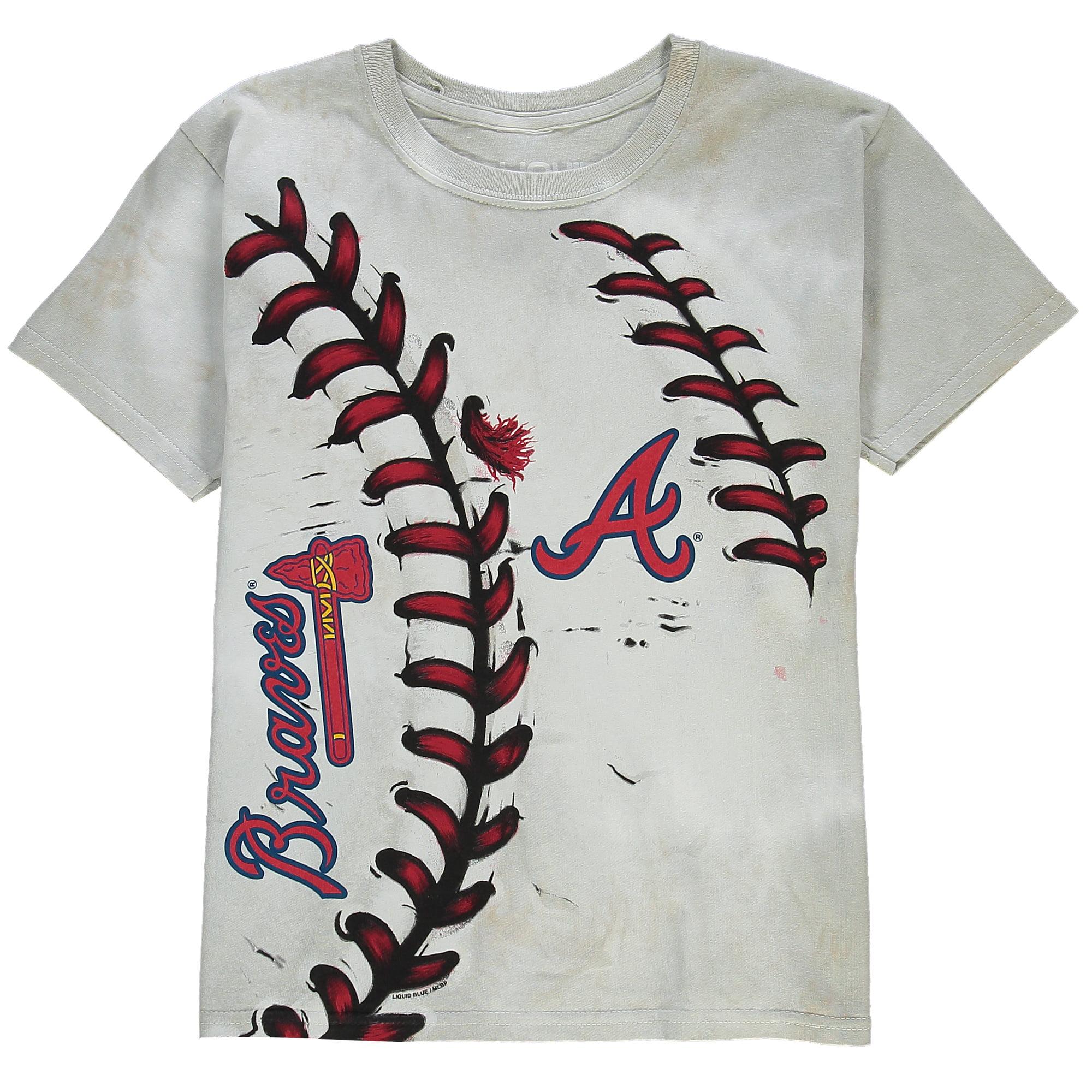Atlanta Braves Youth Hardball T-Shirt - Cream