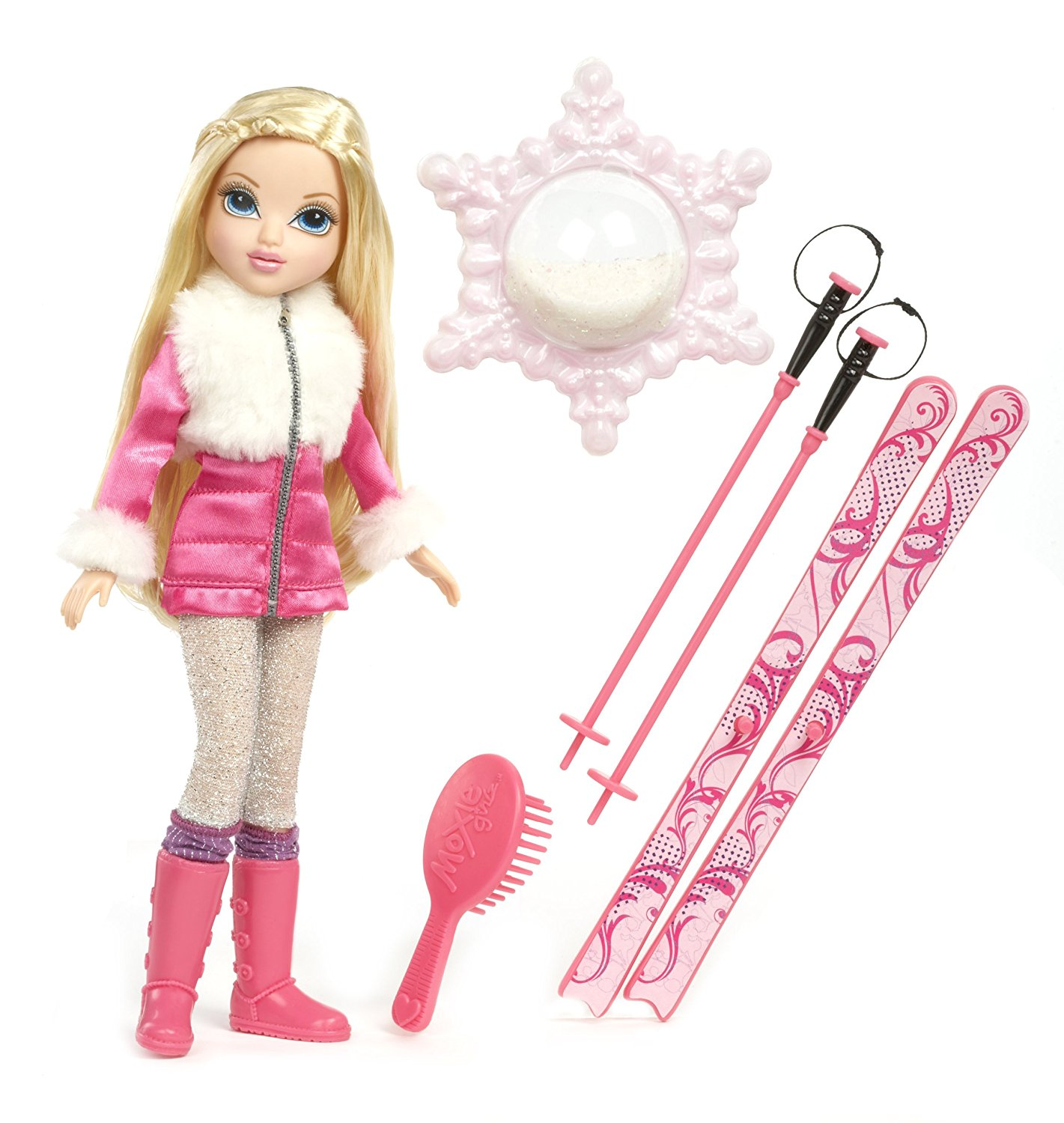 Magic Glitter Snow Doll Avery, One Moxie Girlz doll wearing a frosty cool Magic Snow outfit By Moxie Girlz Ship from US