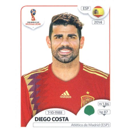 2018 Panini World Cup Stickers Russia #151 Diego Costa Spain Soccer