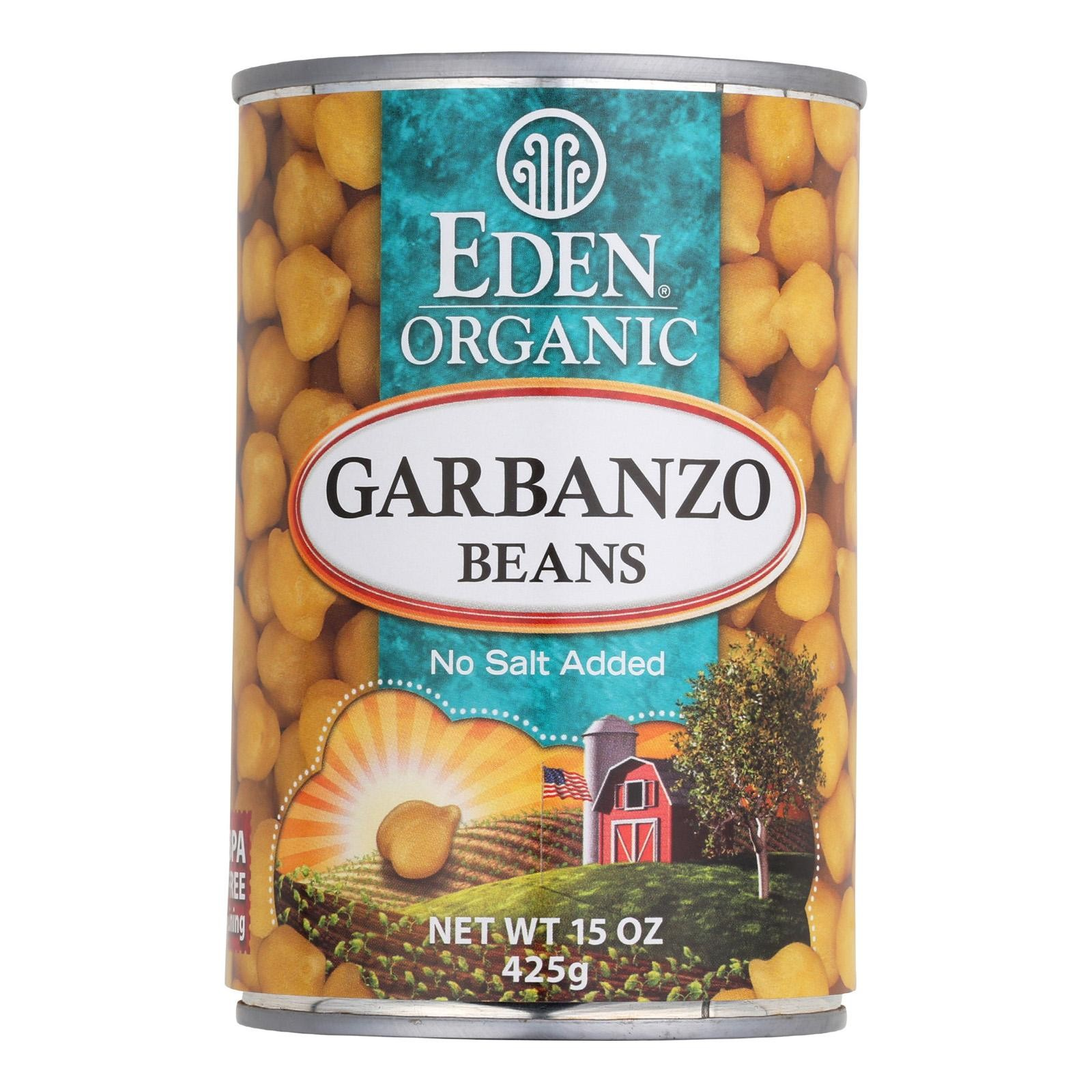 Eden Foods Organic Garbanzo Beans - Pack of 12 - 15 Oz.