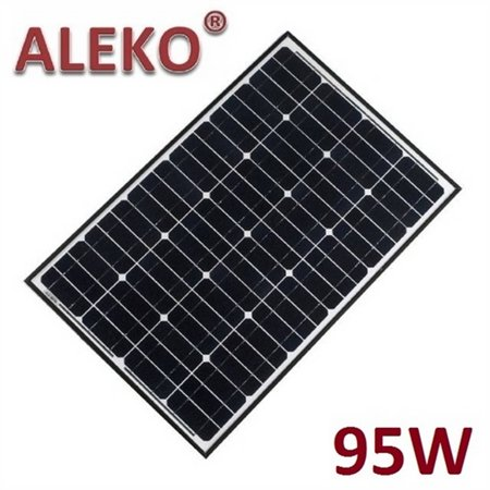 ALEKO Solar Panel Polycrystalline 95W for any DC 12V Application (gate opener, portable charging system, etc.)