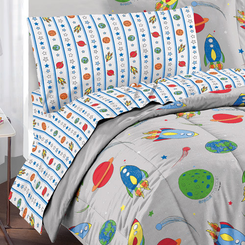 Very Dream Factory Space Rocket Complete Bed in a Bag Bedding Set  CA16
