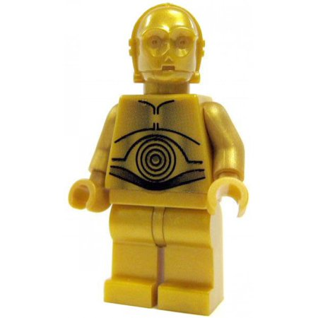 LEGO Star Wars A New Hope C-3PO Minifigure [Dark Gold Pearl] [No