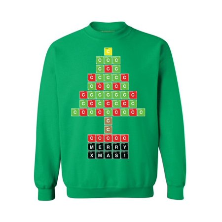 Awkward Styles Science Sweatshirt Christmas Tree Ugly Sweater for Chemists Funny Gifts for Nerds Xmas Periodic Table Tree Sweatshirt Xmas Gifts for Him and Her Christmas Party Outfit Holiday Gifts (Nerd Outfits For Kids)