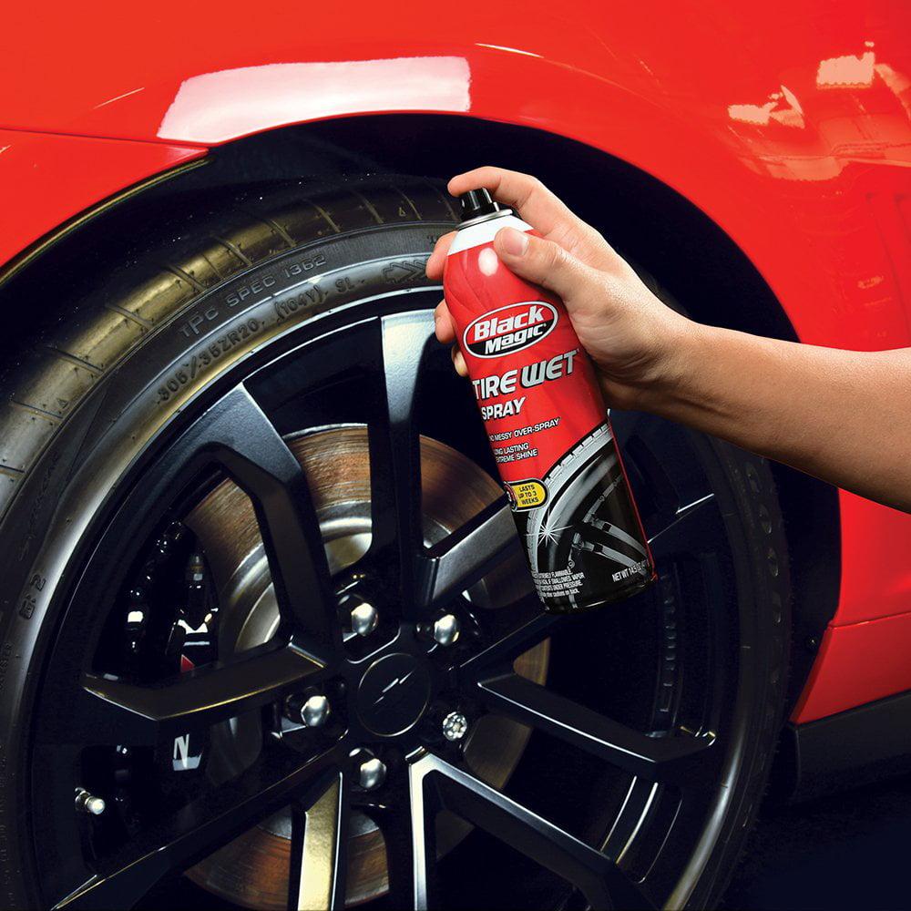 Black Magic 120024 Tire Wet Silver Spray  8 oz.