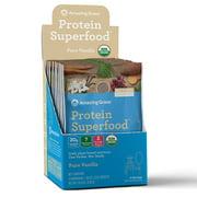 Amazing Grass Plant Protein Superfood Powder, Vanilla, 10 Packets