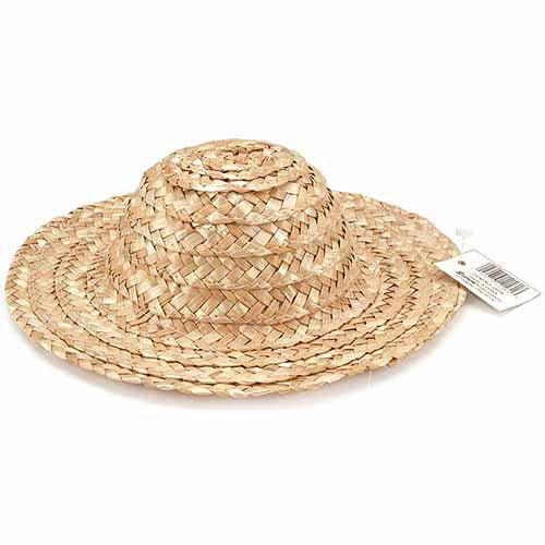 Darice Round Top Straw Hat, Natural