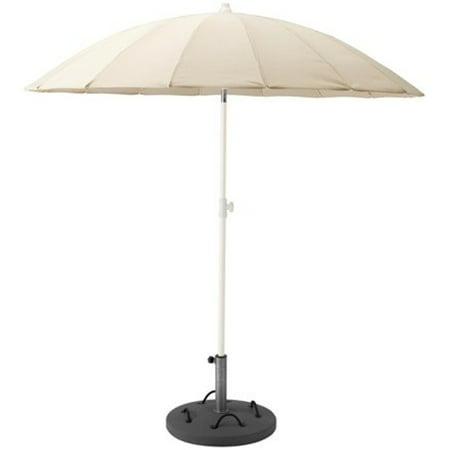 Ikea Umbrella with base, beige, Lökö gray