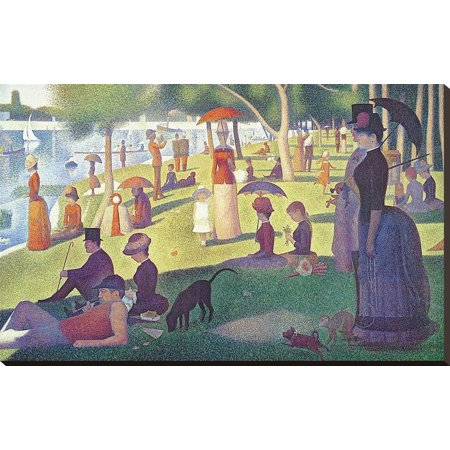 A Sunday on La Grande Jatte 1884, 1884-86 Stretched Canvas Wall Art   By Georges
