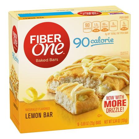 Fiber One 90 Calorie Soft-Baked Bar, Lemon Bar, 6 Fiber Bars, 5.34 oz - Homemade Lemon Bars