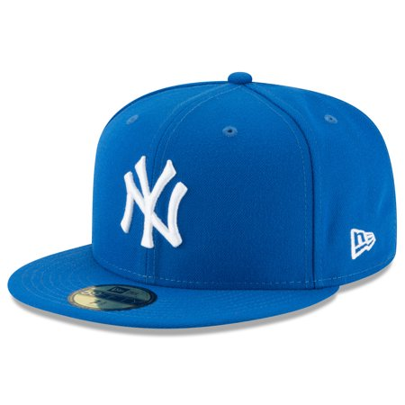 Ny Yankees Team Autographed Baseball - New York Yankees New Era Fashion Color Basic 59FIFTY Fitted Hat - Blue