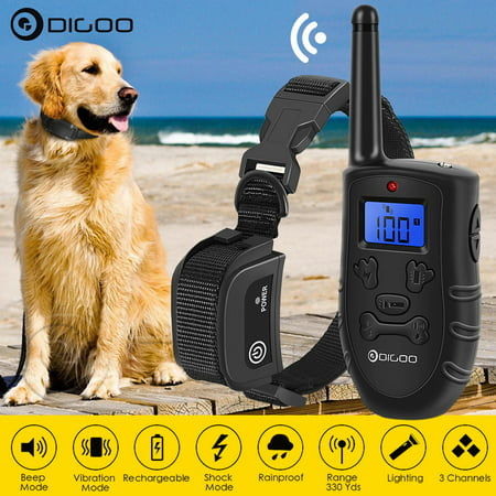 DIGOO Dog Training Collar with Remote Control, Electric USB Rechargeable  100 Levels Universal for Small Big Dog Training