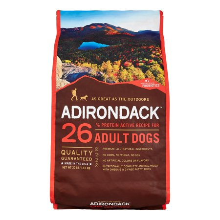 Adirondack 26% Protein Active Recipe For Adult Dogs, (Adirondack Dog)