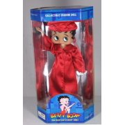 "Betty Boop 12"" Red College HighSchool School Graduate  Dress Doll  w/ Doll Stand, New Gift Cartoon TV By Precious Kids 31132 Bendable leg"