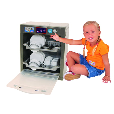 Pavlov'z Toyz Electronic Dishwasher 29pc Play Set Pavlov'z Toyz Electronic Dishwasher Encourages Imaginative Play. Dishwasher Has Realistc Water Sounds