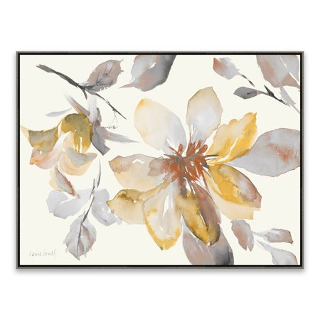 "Gallery Direct ""Clematis in Neutral Shades"" Framed Hand Embellished Canvas - 32.875W x 24.875H x 2D - Multi-color"