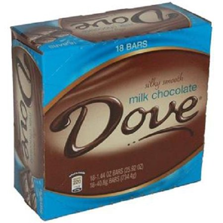 - Dove Silky Smooth Milk Chocolate Bar 1.44 oz (Pack of 18)