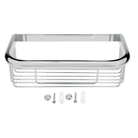 Uxcell 10-inch Brass Rectangle Shape Bathroom Shower Caddy Basket Silver Tone Shower Caddy Brass