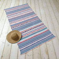 Better Homes and Gardens Geo Stripe with Fringe Beach Towel
