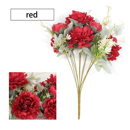 Horypt Artificial Peony Silk Flower Bouquet For Wedding Floral Arrangements Home Decoration Walmart Com Walmart Com