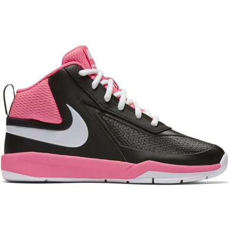0557099d4ee2 Nike - Nike Boys  Team Hustle D7 (PS) Shoe Black White-Hyper Pink 12.5C -  Walmart.com