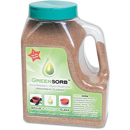 GreenSorb Eco-Friendly Sorbent, Clay, 4lb Shaker Bottle