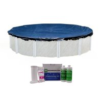 Swimline 24 Foot Round Above Ground Pool Cover w/ Chemical Kit, No Pool Included