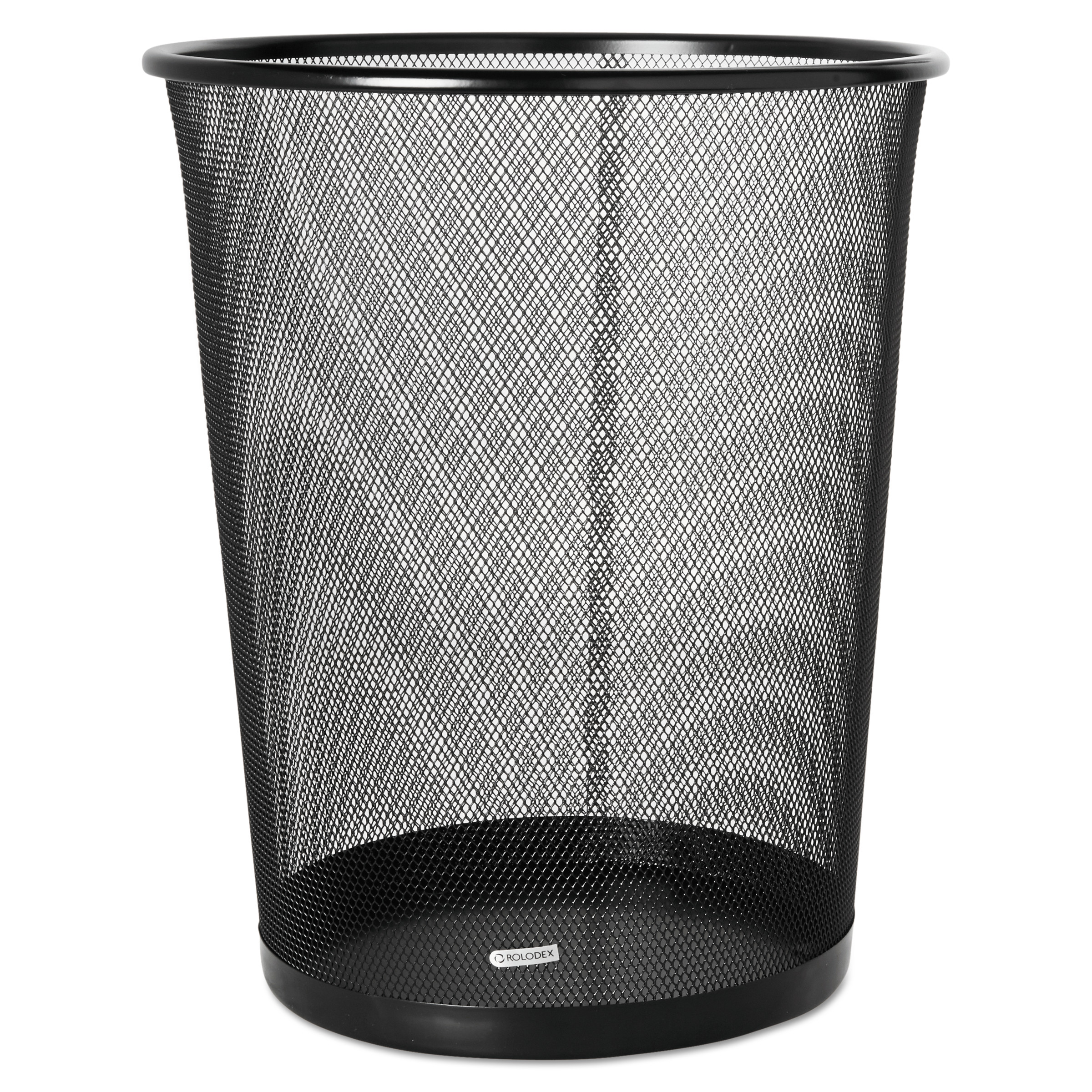Rolodex 4 1/2 Gallon Steel Black Round Mesh Trash Can -ROL22351