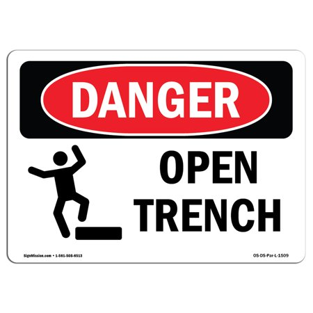 Trench Set - OSHA Danger Sign - Open Trench 5