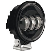 Single 6150-12V Bottom Mnt Fog Lamp Black/Black