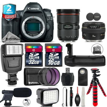 Canon EOS 5D Mark IV + 24-70mm f/2.8L II + 50mm 1.4 USM + LED Kit + Flash +48GB