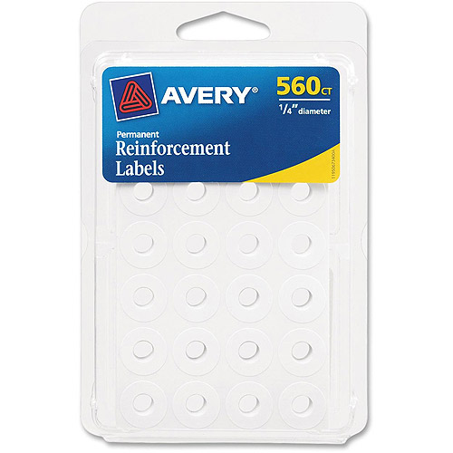 Avery Permanent Reinforcement Labels