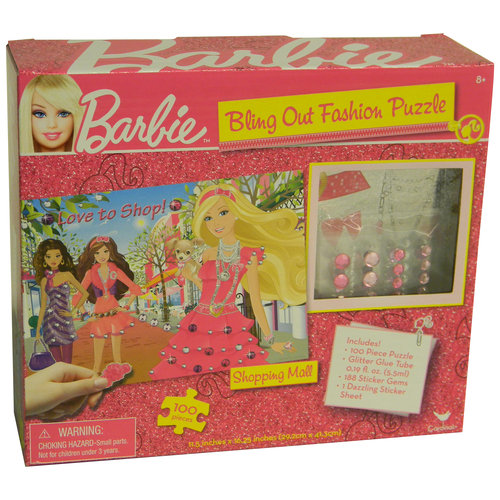 Barbie Sparkle and Shine DIY 100 Piece Puzzle