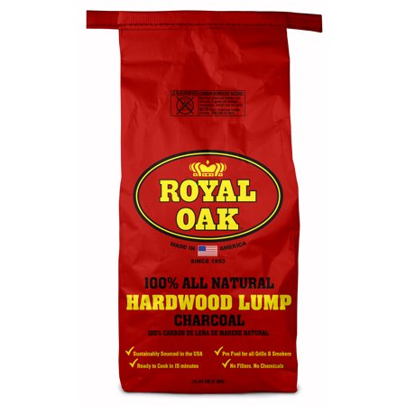 Royal Oak Lump Charcoal, All Natural Hardwood Charcoal, 15.4 Lbs