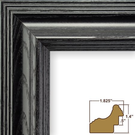 Craig Frames Wiltshire 262 Traditional Black Solid Wood Picture