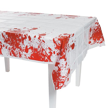 Halloween Party Zombie Blood Tablecover - 54in x 108in - Halloween Express Jobs