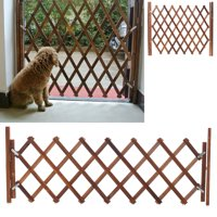 Extendable Instant Fence Wood Retractable Swing Pet Gate Doorways Portable Dog Pet Gate Pet Safety Patio Garden Lawn Yard Home