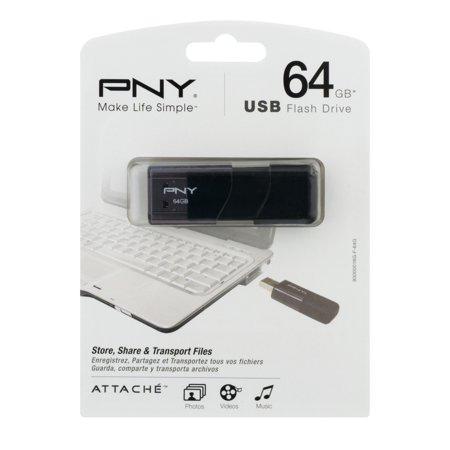 Pny Technologies Attache 64Gb Usb 2 0 Flash Drive