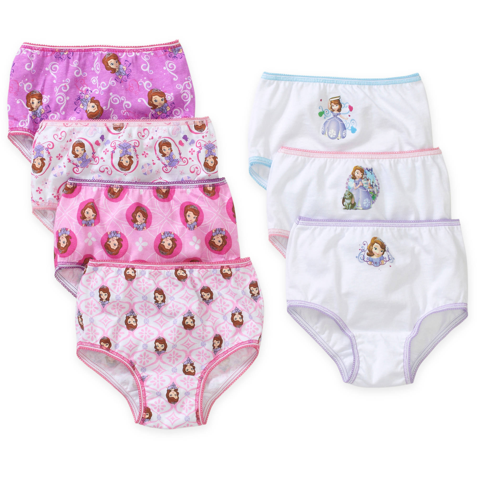 Sofia the First Toddler Girls Underwear, 7 Pack