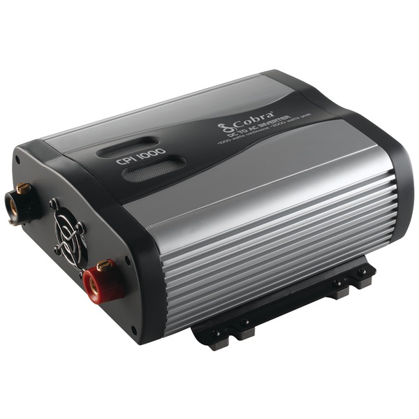 Cobra CPI1000 1000W 12V DC to 120V AC Power Inverter with USB Port Multi-Colored