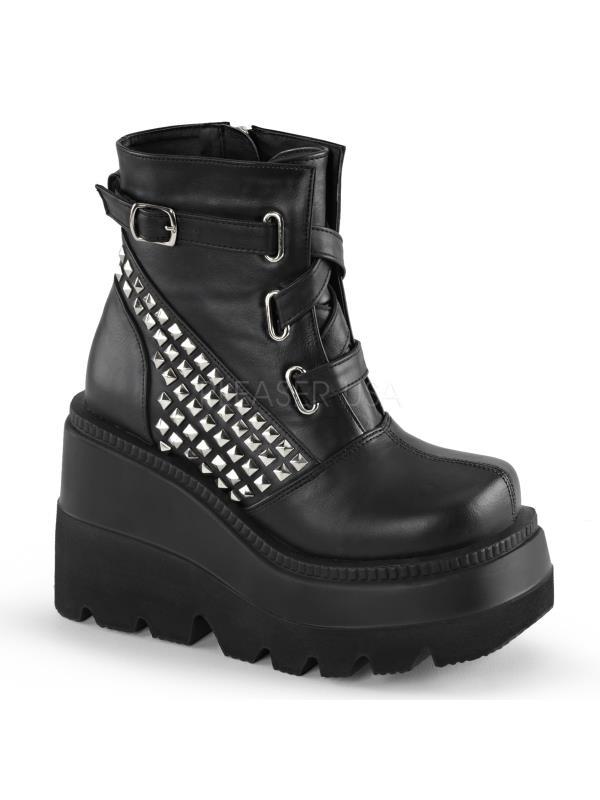 Demonia Vegan Boots Womens SHA50/BVL Size: 6