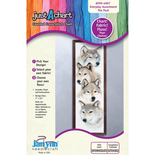 "Janlynn Just-A-Chart ""The Pack"" Counted Cross Stitch Chart"