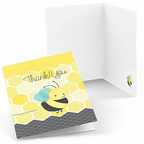 Honey Bee - Baby Shower or Birthday Party Thank You Cards (8 count)