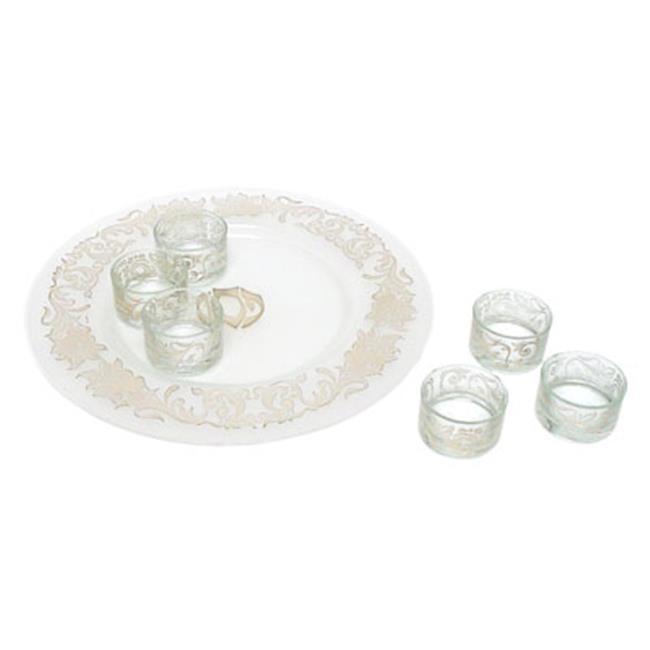 Judaica Kingdom AJ-PT618 Glass Passover Seder Plate