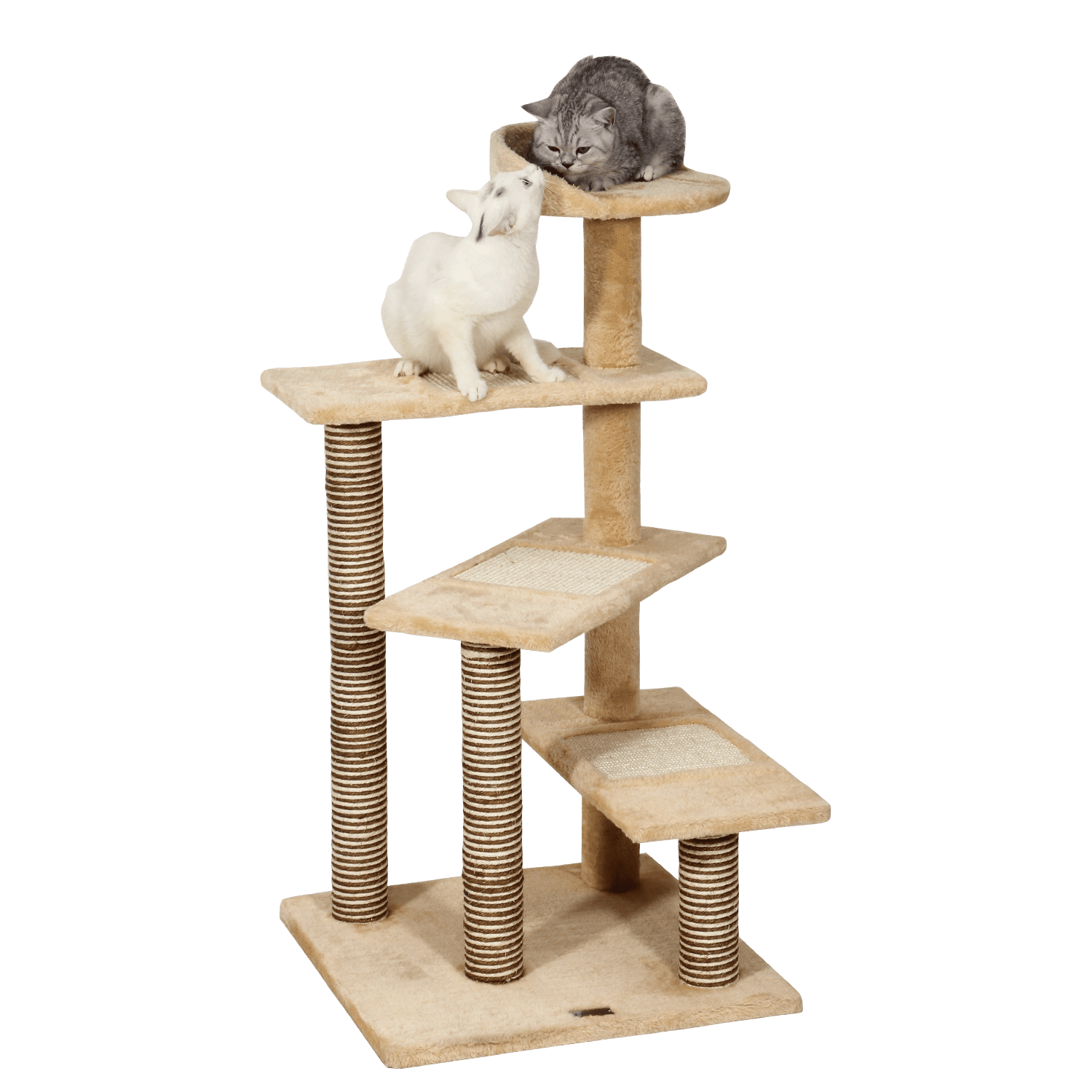 """Allieroo 40"""" H Multi-Level Kitten Cat Tree Furniture Climber Rope Ladder 5 Tiers Cat Tower Cat Scratching... by Allieroo"""